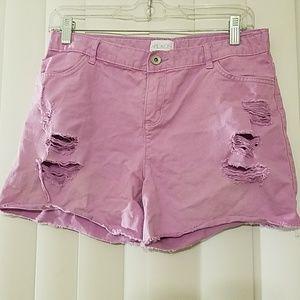 Girls Distressed Shorts
